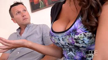Doctor sucks on tits - Threesome therapy - busty goddess sensual jane fucked by doctor and husband