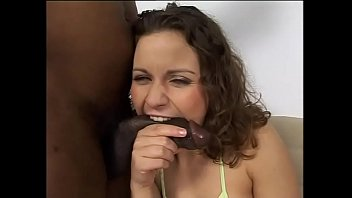 Young white slut tastes a big black cock for the first time