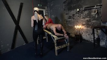 You Can'_t Get Away - Miss Jessica Wood and Miss Hunter Whipping Loud Slave