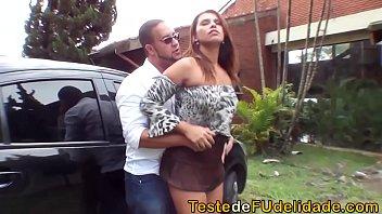 Sexo de famosas do bairro transando com amante