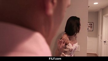 FILF - Lusty Babysitter Honey Gold Fucks Hot Dad