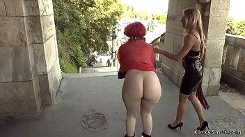 Redhead Euro slut anal banged in bar