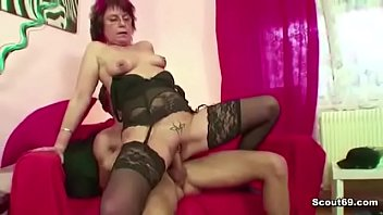 Redhead Granny Fuck Grandson with Big Dick and gets Orgasmus