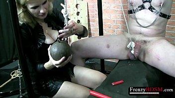 Nanny bondage Frenzybdsm mild hard cock torture session