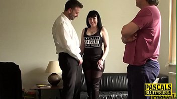 Mouth fucked chubby submissive milf