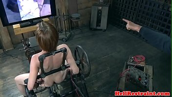 Maledom bondage Bondage sub dominated by electro nippleplay