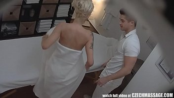 Beautiful Big Tits Blonde on Czech Massage