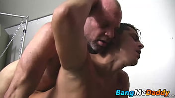 Chad wastes no time in shoving his big cock into his mouth