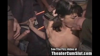 MILF Slut Gets Anal Creampies From Strangers In Tampa Porn Theater thumbnail