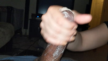 Quick hand job after a long day