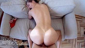 Beautiful Girl Sucking and Cowgirl on Dick Friend of the Father - Cumshot