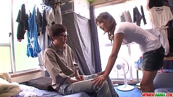 Strong cock riding and Asian blowjob by Mei Aso - More at javhd.net