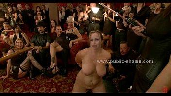 Naked sex slaves public torturing