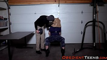 Restrained teen pounded