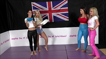 Twf thumb wrestling federation Tag-team bra and panties match strip-wrestling match w, loser gets strapped in a nappy diaper the queen of supreme jess west charlotte anderson vs jessica morgan tammy sloane