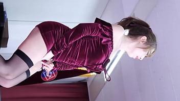 公众号【91公社】超性感韩国美女包臀裙黑丝户外走光热舞串烧