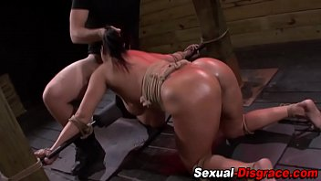 Throated slave fucked
