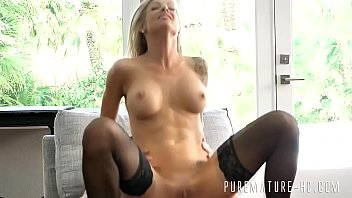 Blonde MILF with big tits enjoys hardcore anal sex