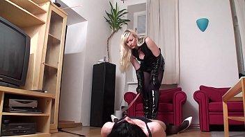 femdom ladies whipping slaves