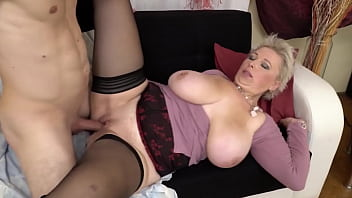 German granny anal - Udder gilf fucked by young toy boy