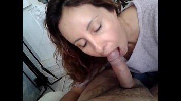 Mature wife swallows husband at hotel