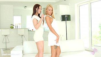 Minnie Manga and Katrin Tequila in Booty call lesbian scene by SapphiX