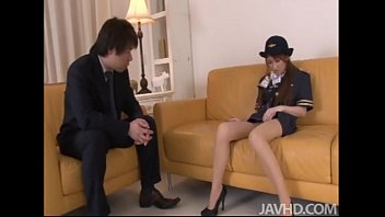 Largest asian airlines Cute and horny yuzu shiina in her airline outfit fingers her pussy on camera