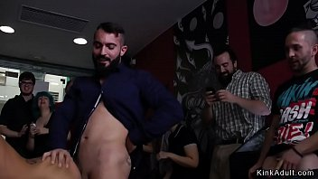 Stunning babe anal banged in tattoo shop