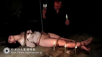 【緊縛お嬢様アナル責め】ロリな感じのお嬢様を開脚緊縛してアナルにアナルビーズを入れてやる。