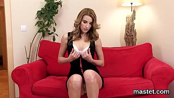 Horny czech chick opens up her yummy vagina to the strange