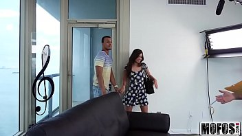 Hot Brunette Scouts a Stranger video starring Gia Paige - Mofos.com