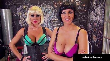 Milf Queen Julia Ann, Licks Jizz Off Jessica Jaymes'_ Face!