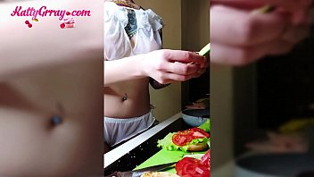 11750 Horny Tattooed Teen Passionate Fingering in the Morning While Cooking preview