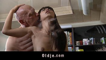 Sex with a man and a woman Asian teen fucking older bald teacher