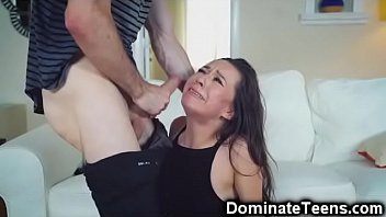 Angry Dude Brutally Fucks Teen Stepsis!