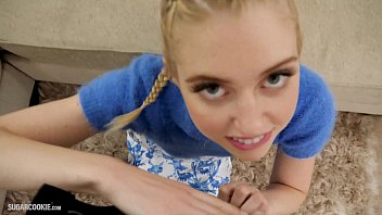 Cute blonde teen pornstar Chloe Cherry makes homemade porn
