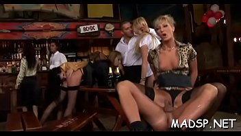 Stud finds himself in the role of a real vagina lesbian-boob-sucking