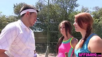 Cock addict teen seduced and fucked her tennis coach
