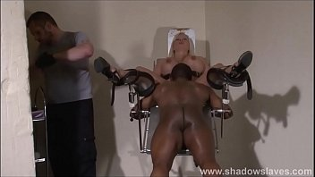 Slave Melanie Moons interracial doctors bdsm and medical pussy punishment of bus