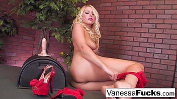 Sexy Vanessa Decides To Go All Out And Takes On The Sybian With Her Tight Wet Pussy