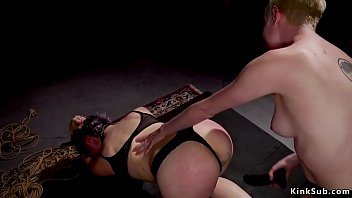 Blonde and alt slave fucked at bdsm orgy