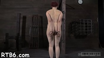 Angel is stripping inside cage