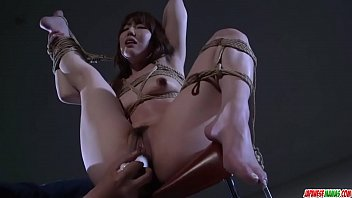 Rina Uchimura gets pussy stimulated in raw bondage - More at Japanesemamas com