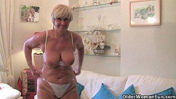 British and voluptuous granny Samantha collection