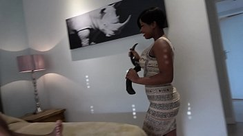 EATING EBONY PUSSY WHILE HUSBAND IS OUT