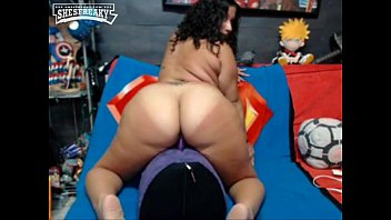 Big juicy bbw riding huge dildo
