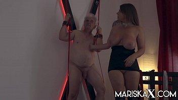 MARISKAX Busty babe Sexy Susi whips her sugar daddy