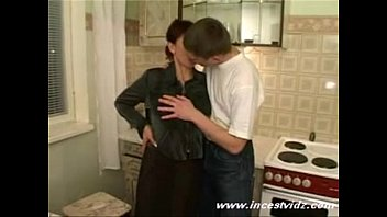 Russian mom banged by her sons friends
