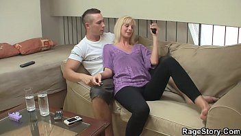 He forces young blonde wife riding his hard cock