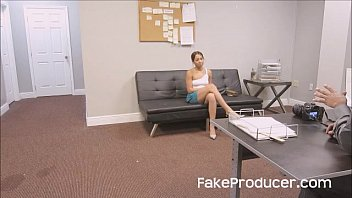 FakeProducer Tricks Petite Latina Into A Blowjob During Casting Audition